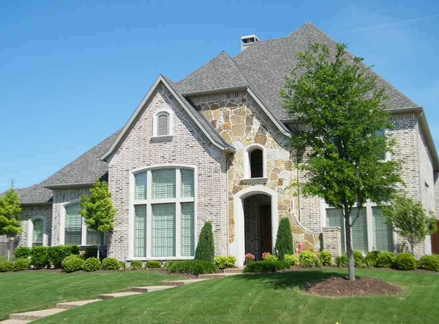 Stock Photo Image of the Front of a House.